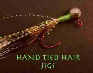 hand tied hair jig for crappie