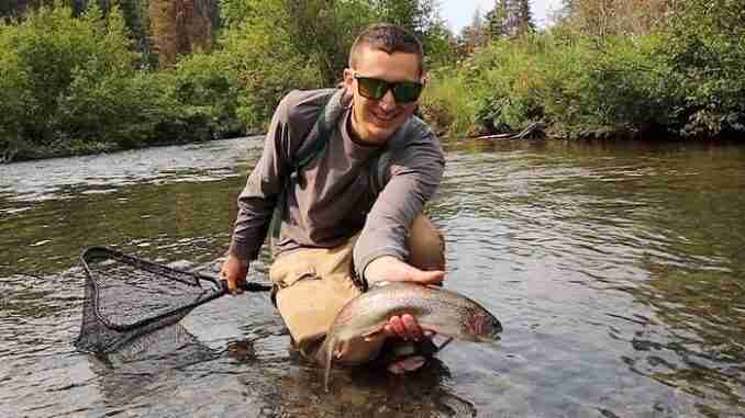 Rainbow Trout On Mouse Fly